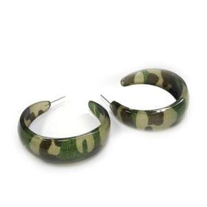 Camouflage Hoop Earrings